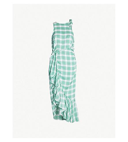 1c33df3cc193 PAPER LONDON - Montego Sensi-check ruffled poplin dress