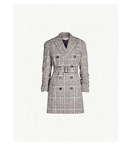 Augusta Checked Belted Cotton Blend Jacket by Veronica Beard