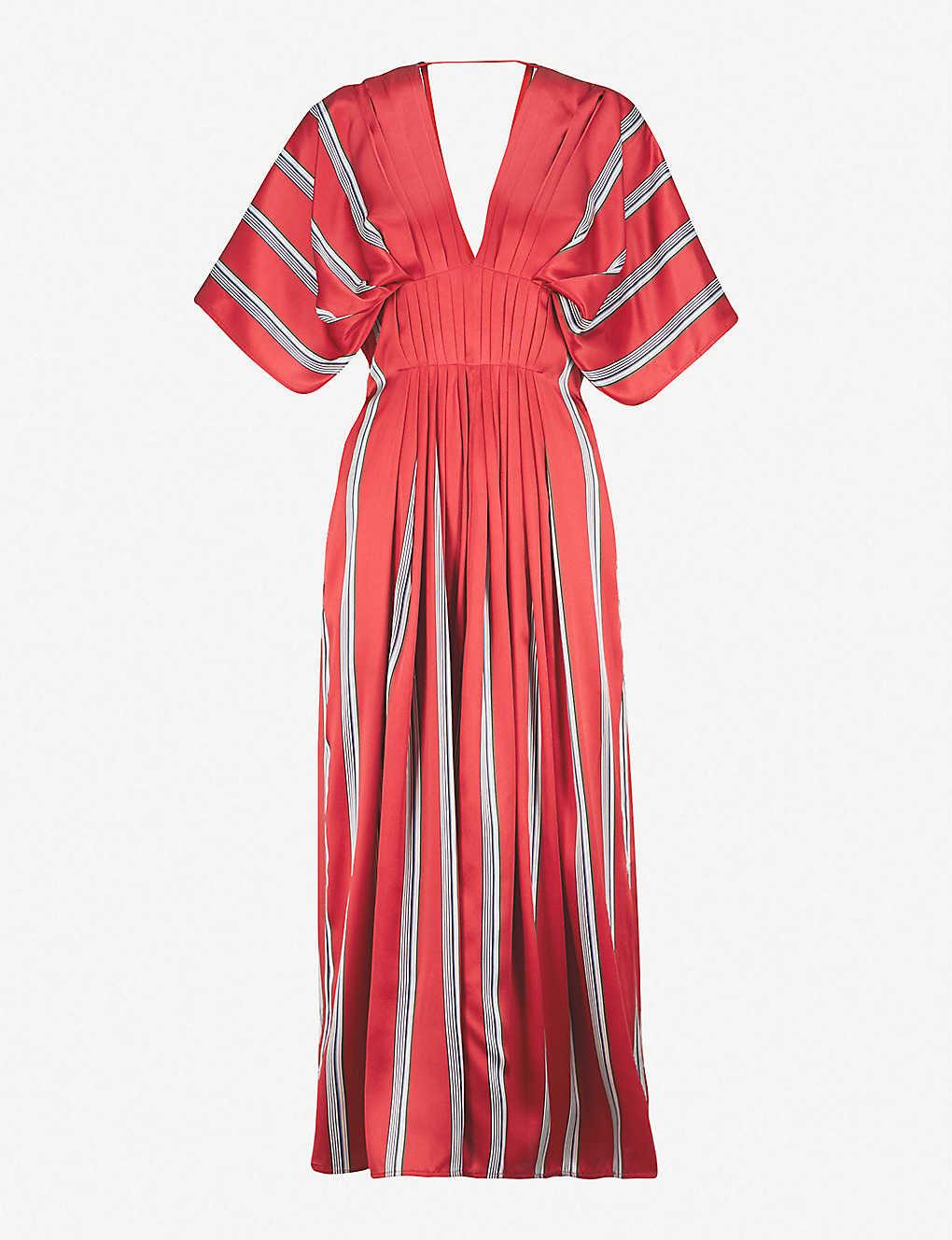 cb7f489389 ROKSANDA - Mihara striped silk-satin midi dress