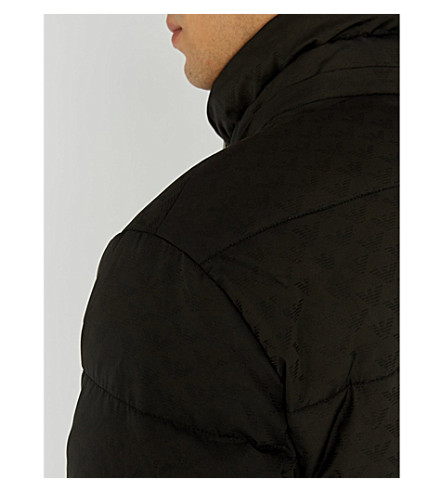 81a2c3eaea59 Armani Jacket blend Logo Down Eagle Emporio print Padded 1qxpggA in ...