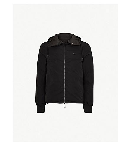 1da56655be7a EMPORIO ARMANI - Eagle logo-print padded down-blend jacket ...