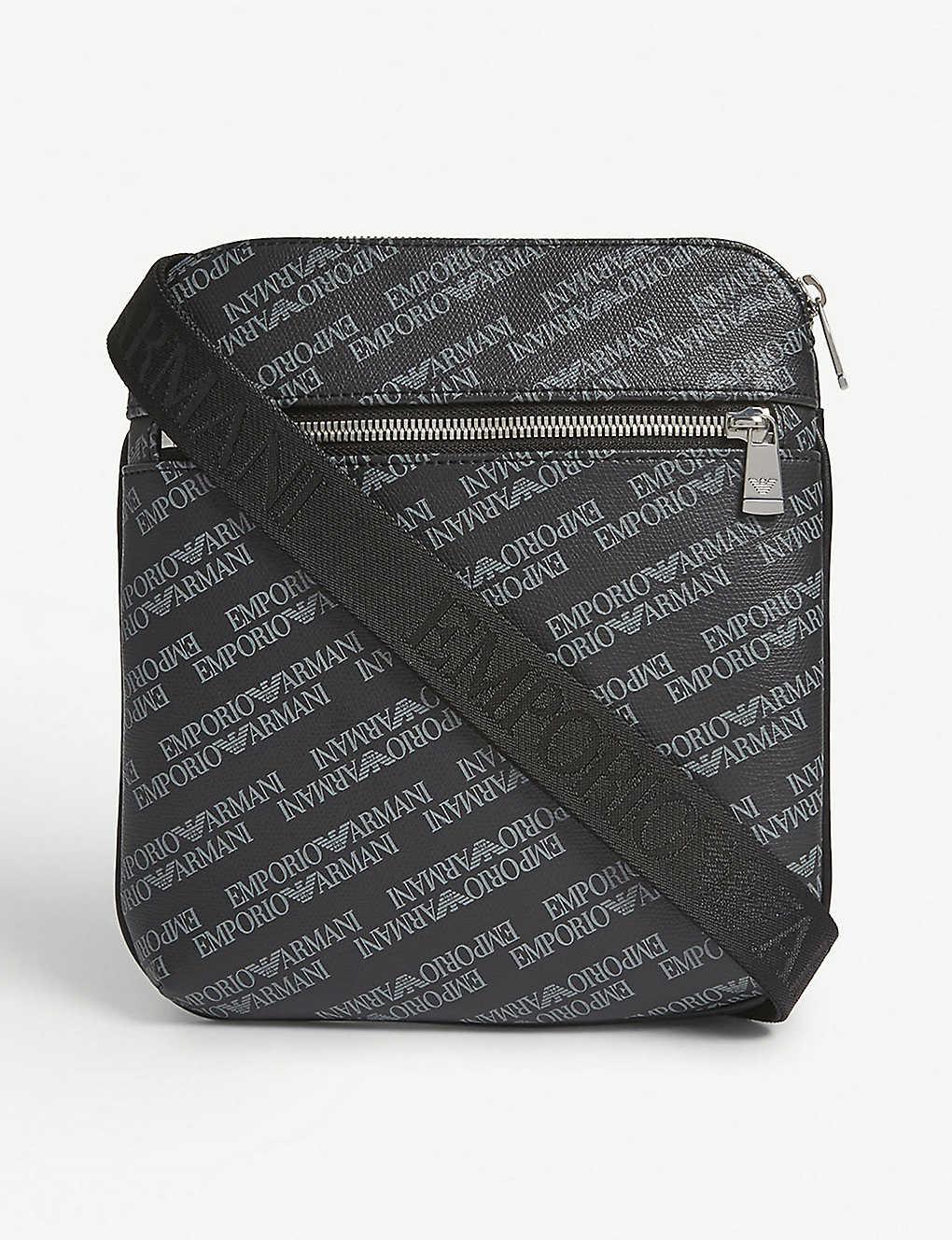 cd577a0af2fb EMPORIO ARMANI - Logo messenger bag