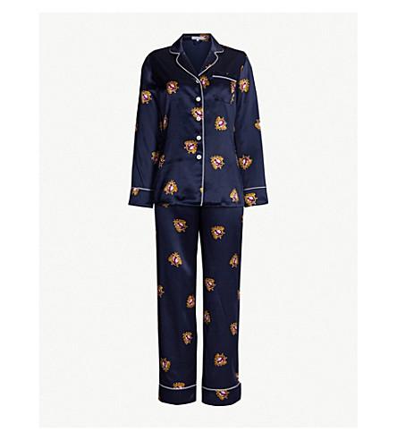 Lila Clyde Silk Pyjama Set by Olivia Von Halle