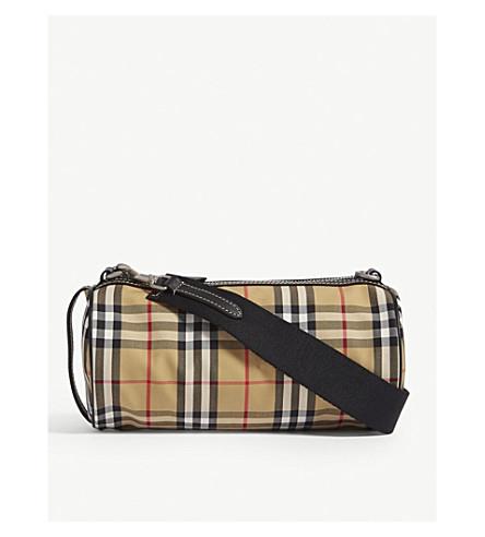 6c308b168460 BURBERRY - Kennedy vintage check canvas cross-body bag