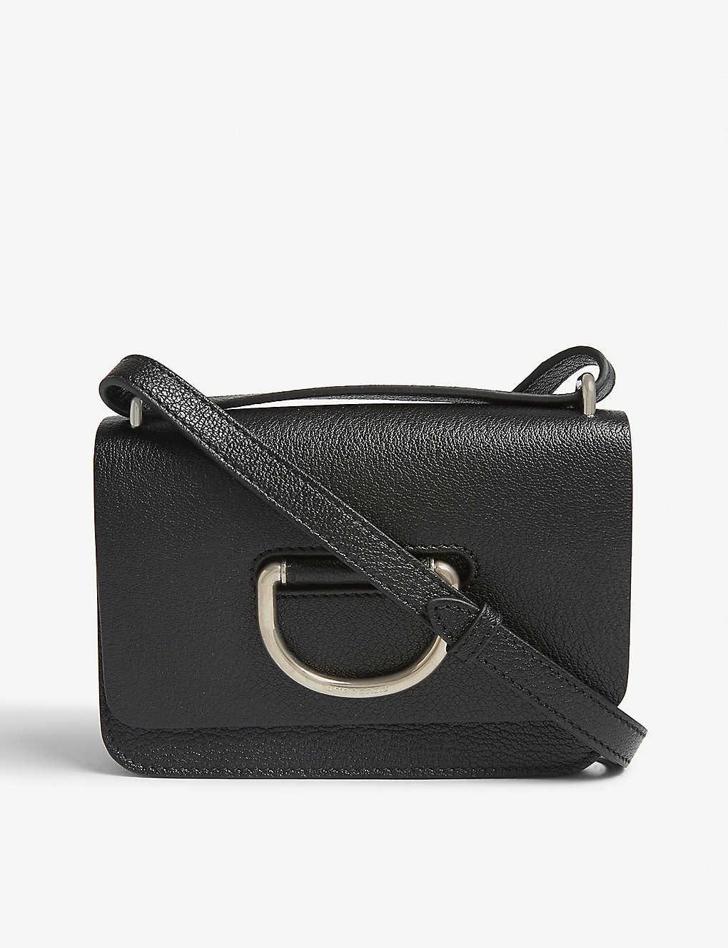 BURBERRY - Mini leather D-ring cross-body bag  e9e6b7ed22be6