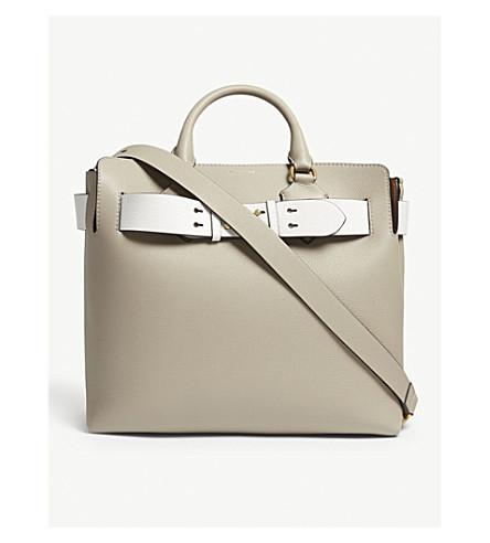 3b751f5fd546 ... BURBERRY Medium leather belt tote bag (Mineral+grey. PreviousNext