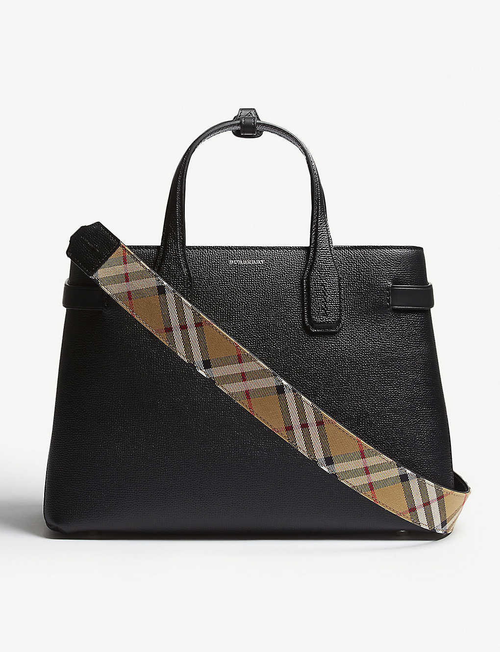 b4cc20b28388 BURBERRY - New Banner medium grained leather tote