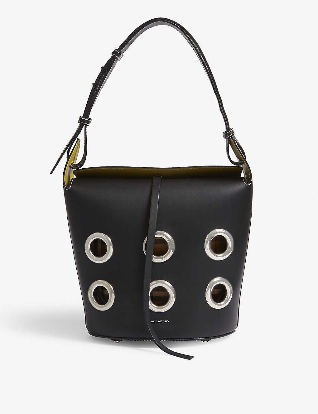 BURBERRY - Grommet leather bucket bag  1779cdcb80f37