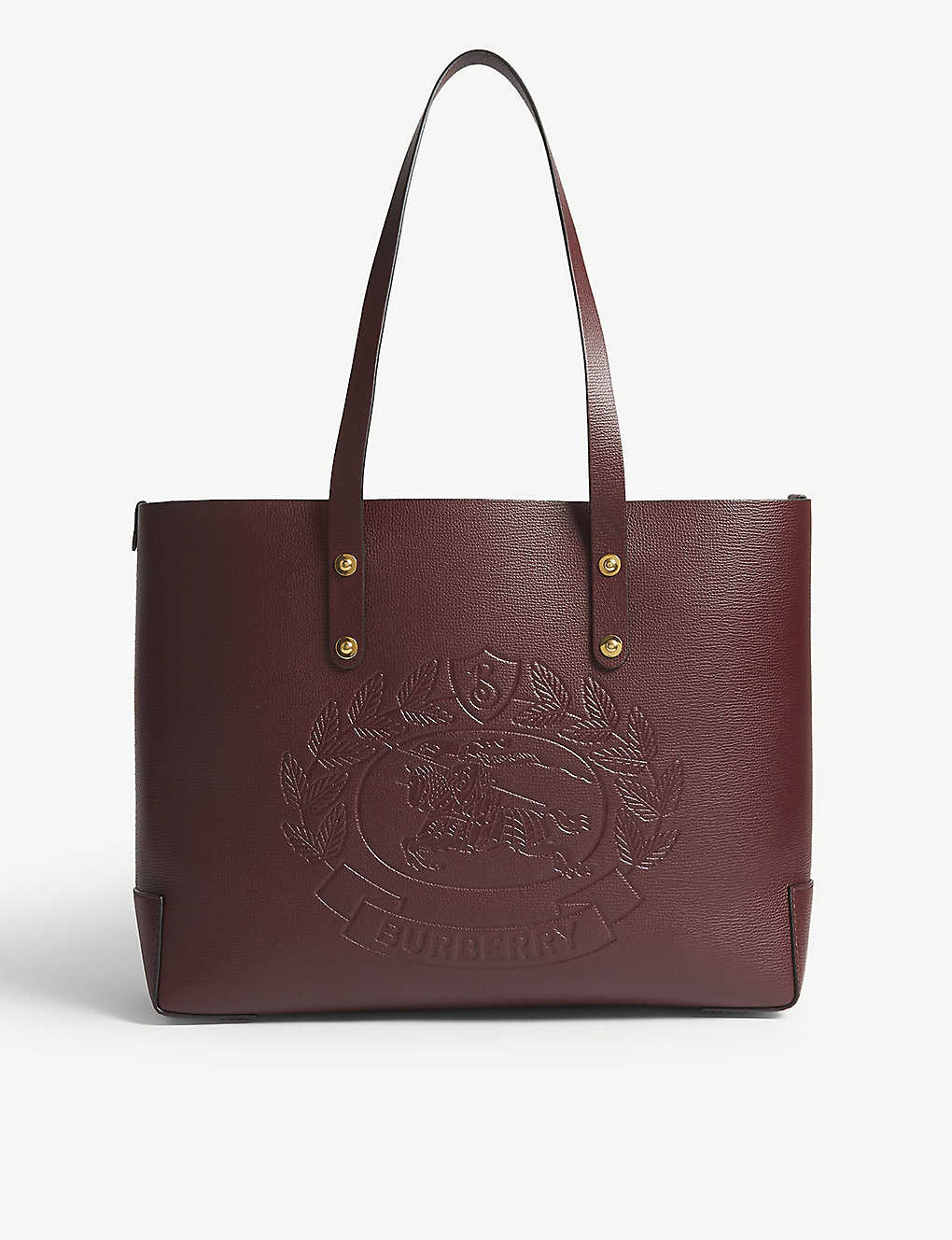 62891a210b9 BURBERRY - Embossed crest leather tote