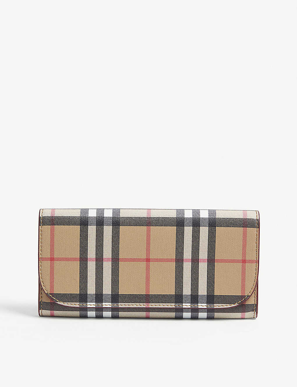 d336d27bca2c BURBERRY - Heron leather check continental wallet