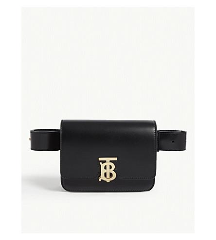 d3b2953ff8e7 ... BURBERRY TB logo leather belt bag (Black. PreviousNext