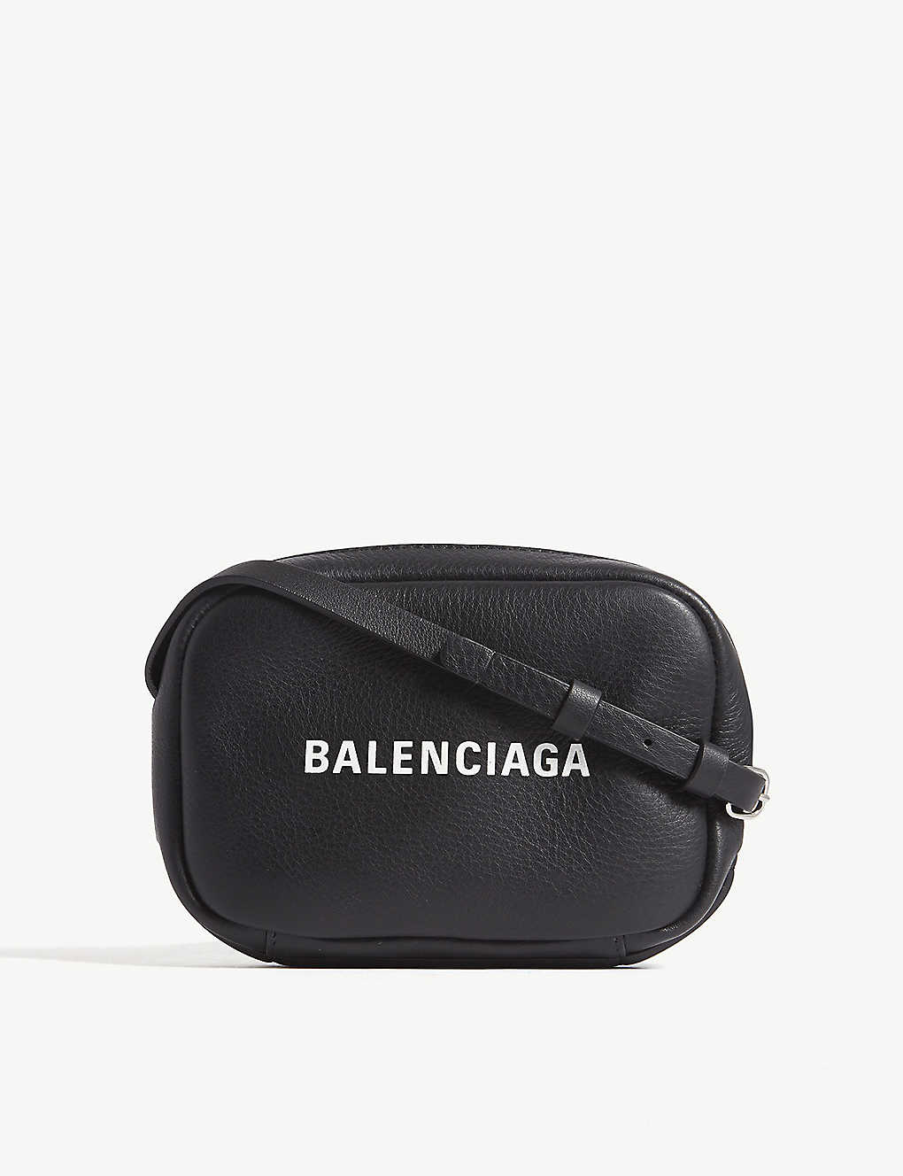 05e3f9c5e1cc BALENCIAGA - Logo-print leather camera cross-body bag