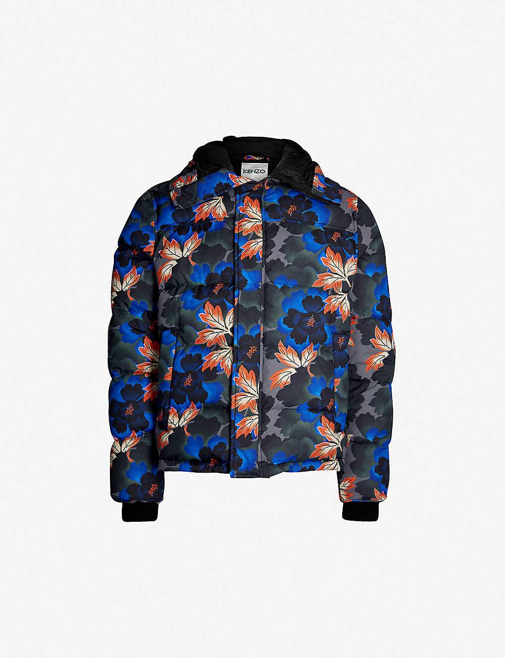 30c80de68295 KENZO - Floral-print shell-down coat
