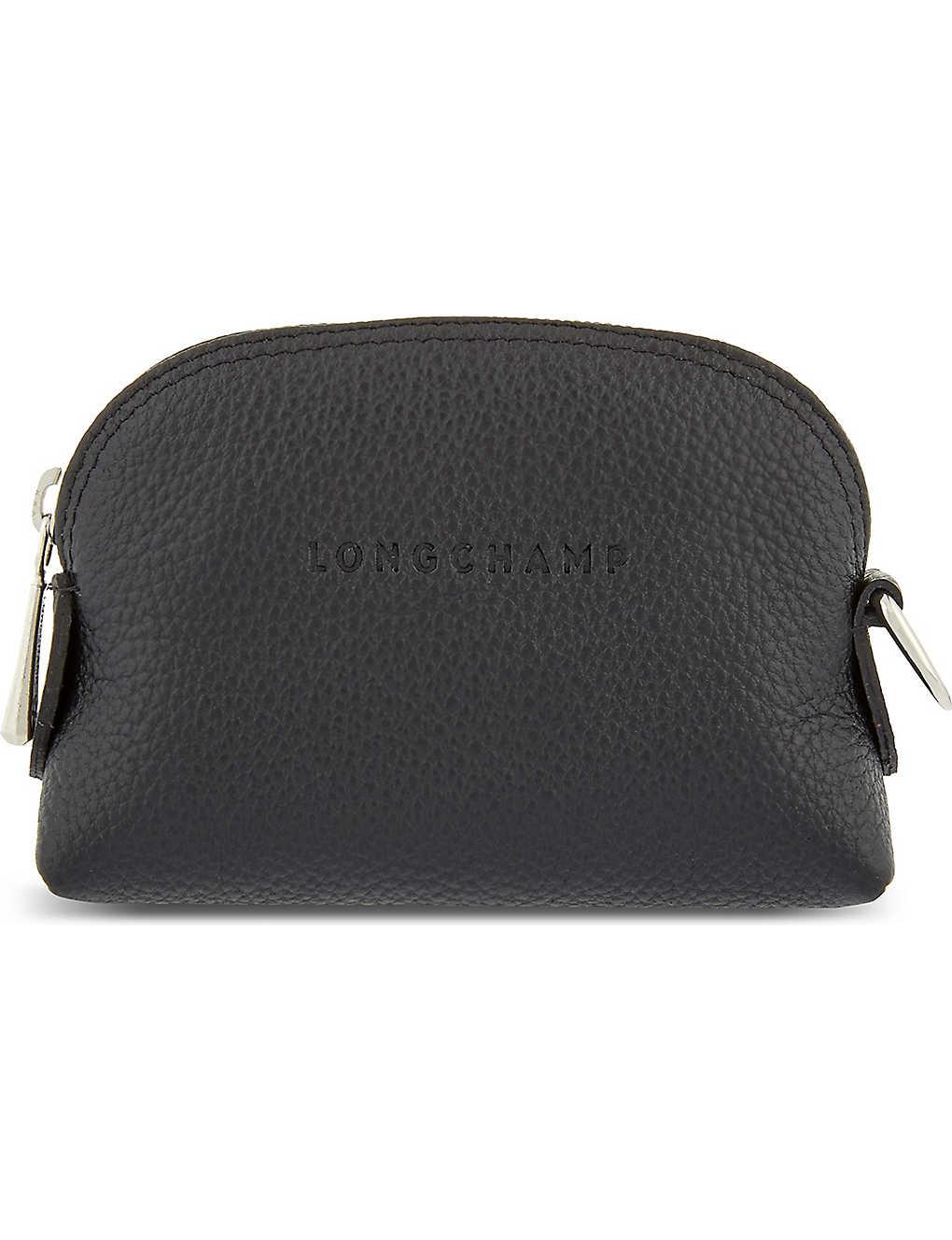 LONGCHAMP - Le Foulonne leather coin purse  b48642bf664a7