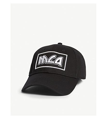 ... MCQ ALEXANDER MCQUEEN Logo-embroidered cotton baseball cap  (Black white. PreviousNext 0e517e9332e0