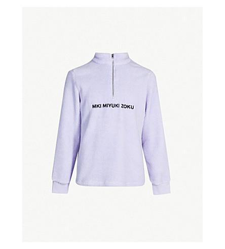 Quarter Zip Fleece Sweatshirt by Mki Miyuki Zoku