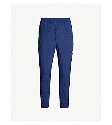 ... ADIDAS Flamestrike tapered shell jogging bottoms (Dark+blue.  PreviousNext 101877596647