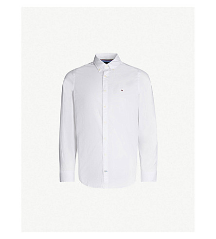 ... TOMMY HILFIGER Slim-fit stretch-cotton shirt (Bright+white. PreviousNext 060637a82b733