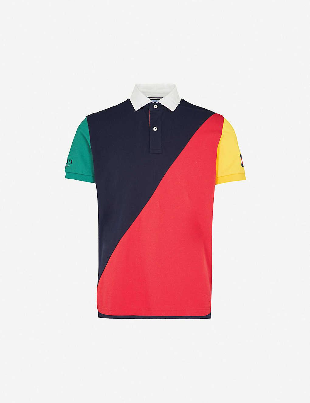 f22c5802 TOMMY HILFIGER - Aiden regular-fit cotton-piqué polo shirt ...