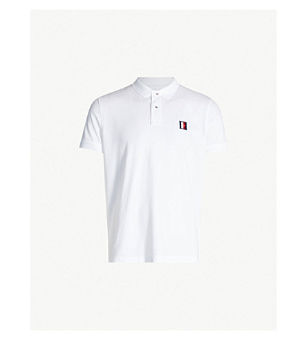 4d6e0761cfa30 ... TOMMY HILFIGER Logo-embroidered cotton-piqué polo shirt (Cloud+htr.  PreviousNext