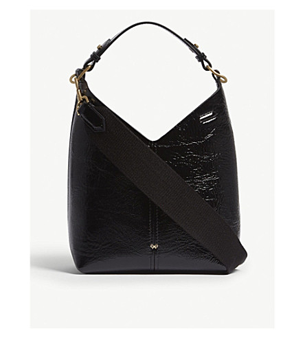 ... ANYA HINDMARCH Build A Bag Mini leather hobo bag (Black. PreviousNext 5689915c3091d