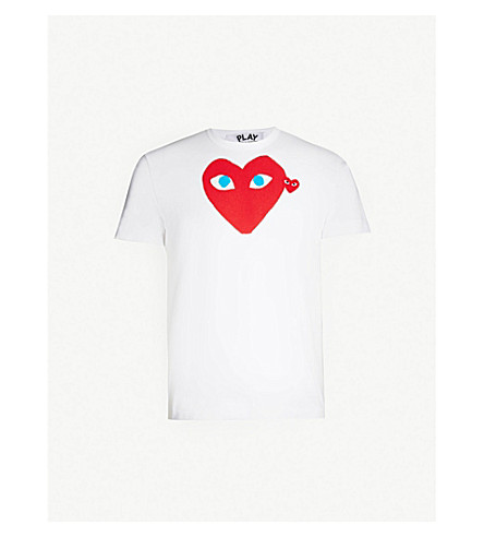 d98d31616b09f ... COMME DES GARCONS PLAY Heart Eye cotton-jersey T-shirt (White.  PreviousNext