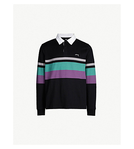 Lucas Cotton Jersey Rugby Top by Stussy