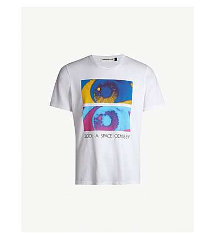 Space Odyssey Cotton Jersey T Shirt by Undercover