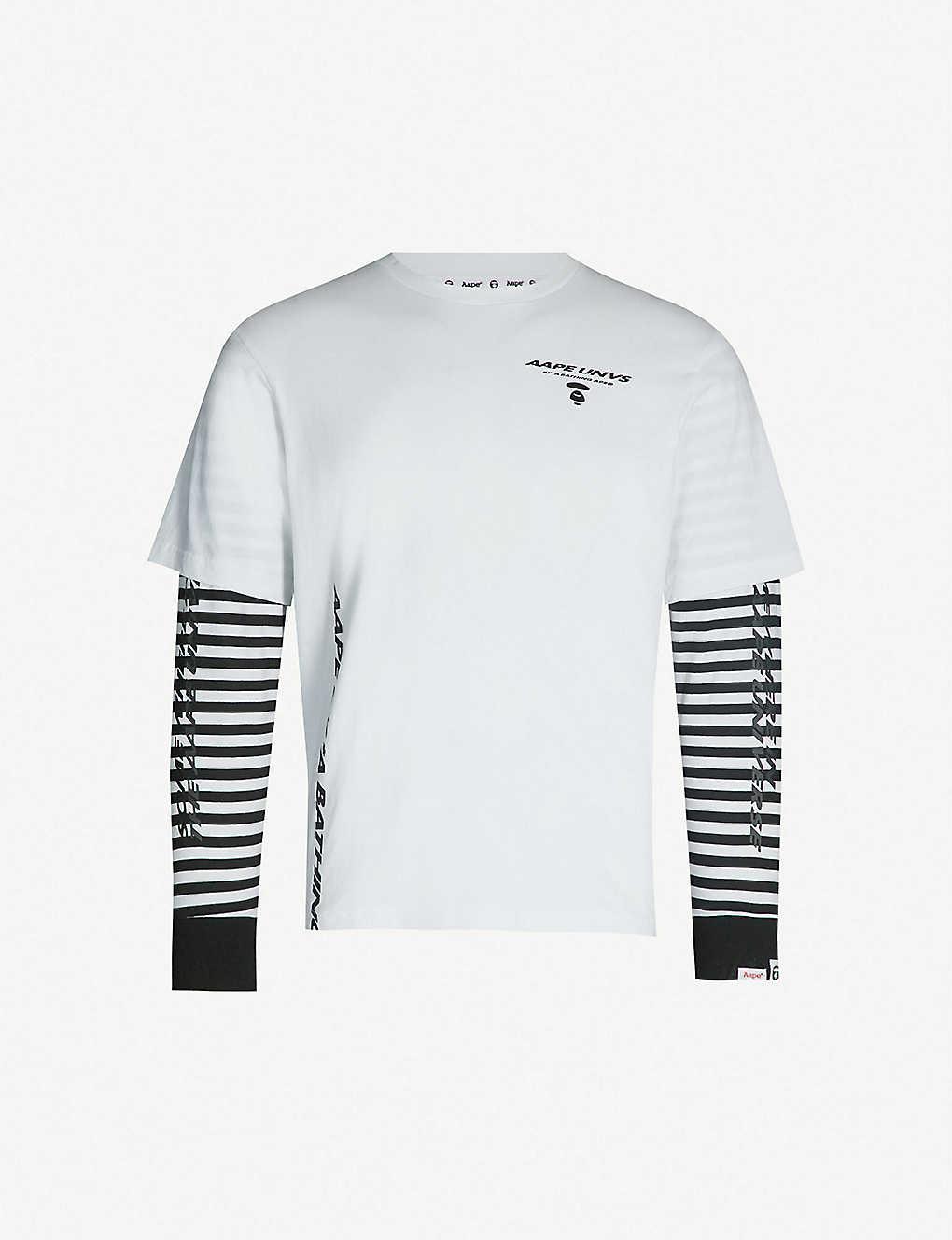 AAPE - Logo-print cotton-jersey T-shirt  f697ca7744a7
