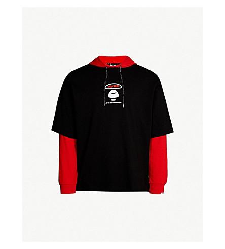 AAPE - Logo-print cotton hoody  96bdffa75edf