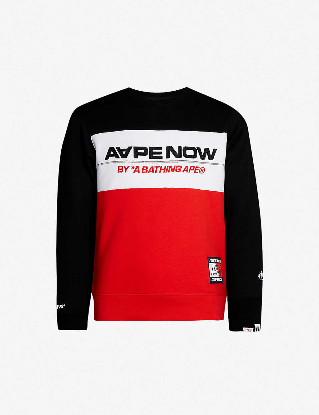 AAPE - Aape Now logo-print cotton-jersey sweatshirt  23bfb78dfc7f