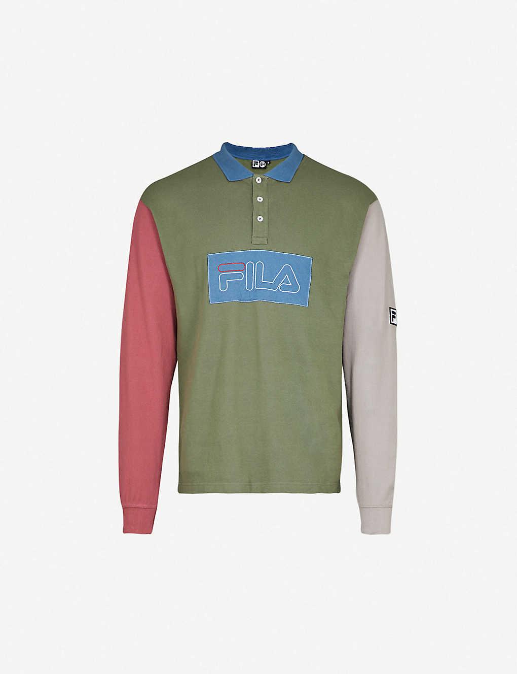 d4694d5e Fila Long Sleeve Pique Polo Shirt   Top Mode Depot
