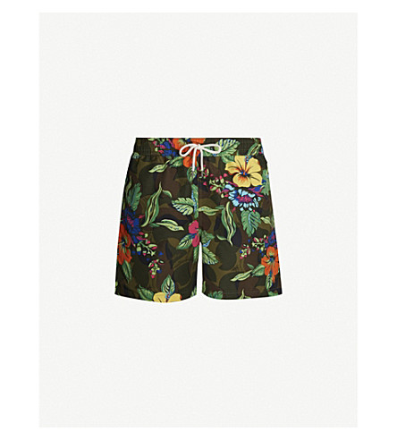 49b936cc2e9 ... Tropical-print drawstring-waist swim shorts (Multi. PreviousNext