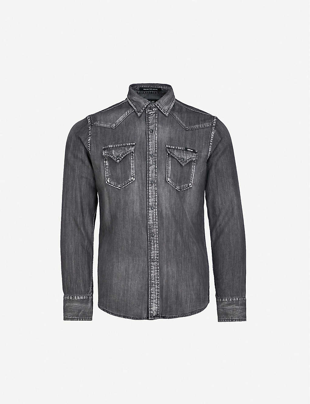 0280e8b7da4 REPLAY - Regular-fit denim shirt