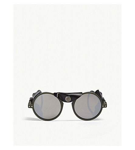 a81203f582 ... IZIPIZI Sun Glacier Kaki round-frame sunglasses. PreviousNext