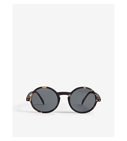73cd7dc661 IZIPIZI - Sun   Sun Reading  G Tortoiseshell round sunglasses ...