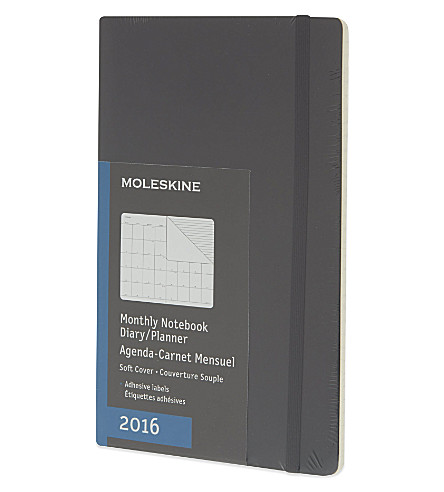moleskine 12 month monthly notebook diary planner selfridges com