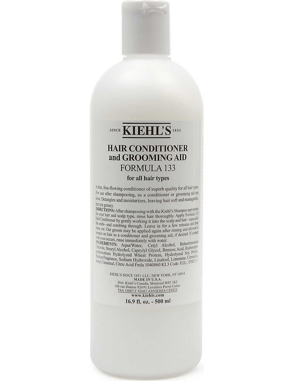 Kiehls Hair Conditioner Grooming Aid Formula 133 500ml Amino Acid No Recent Searches