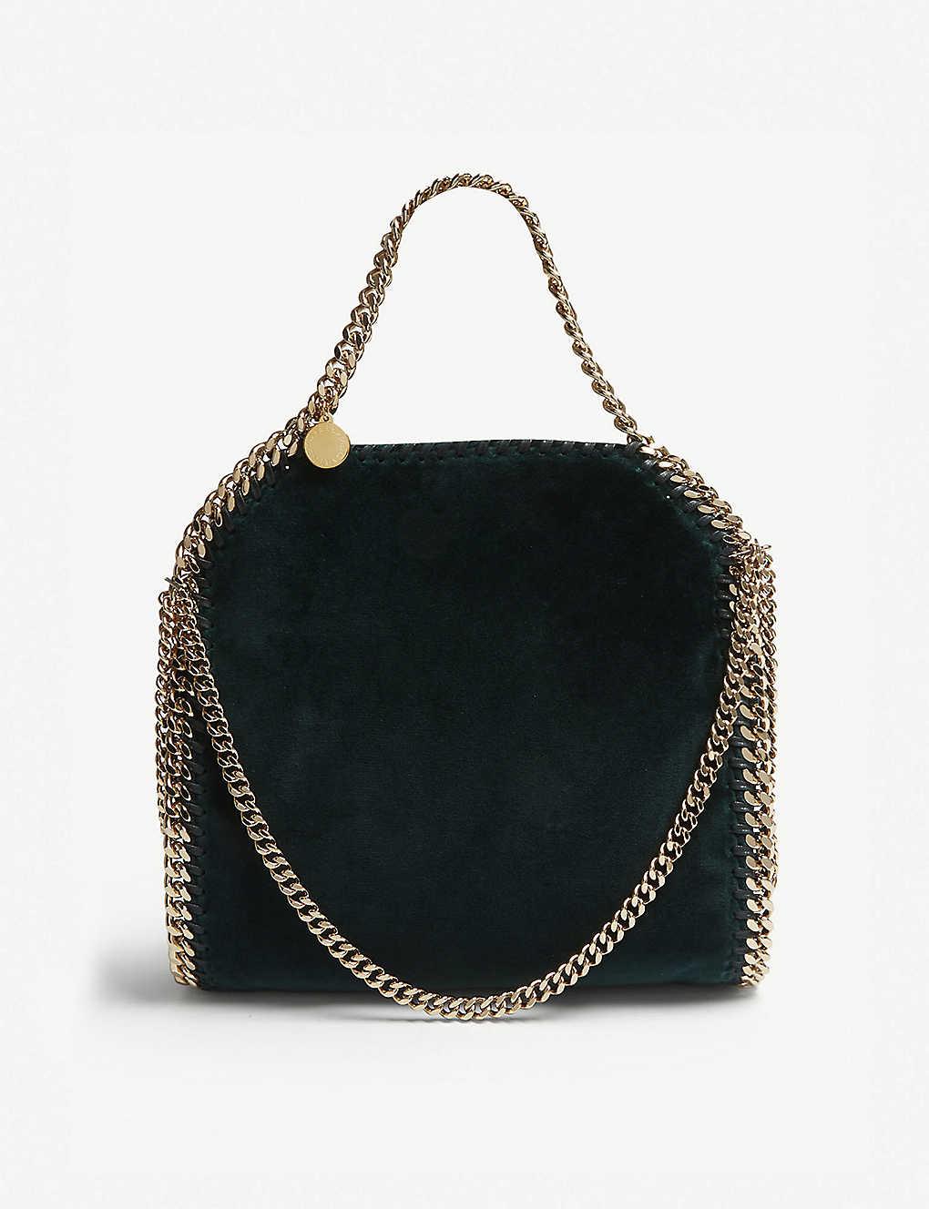 cf239f06a7a0 STELLA MCCARTNEY - Falabella mini velvet shoulder bag