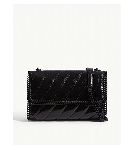 ... STELLA MCCARTNEY Falabella quilted shoulder bag (Black. PreviousNext 22b828f92759a