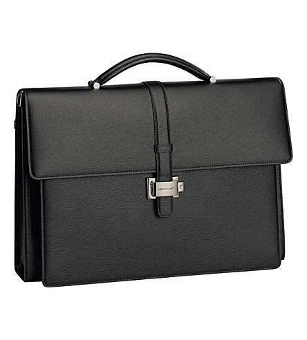 7f01ceeee6 MONTBLANC - Westside Double Gusset leather briefcase | Selfridges.com