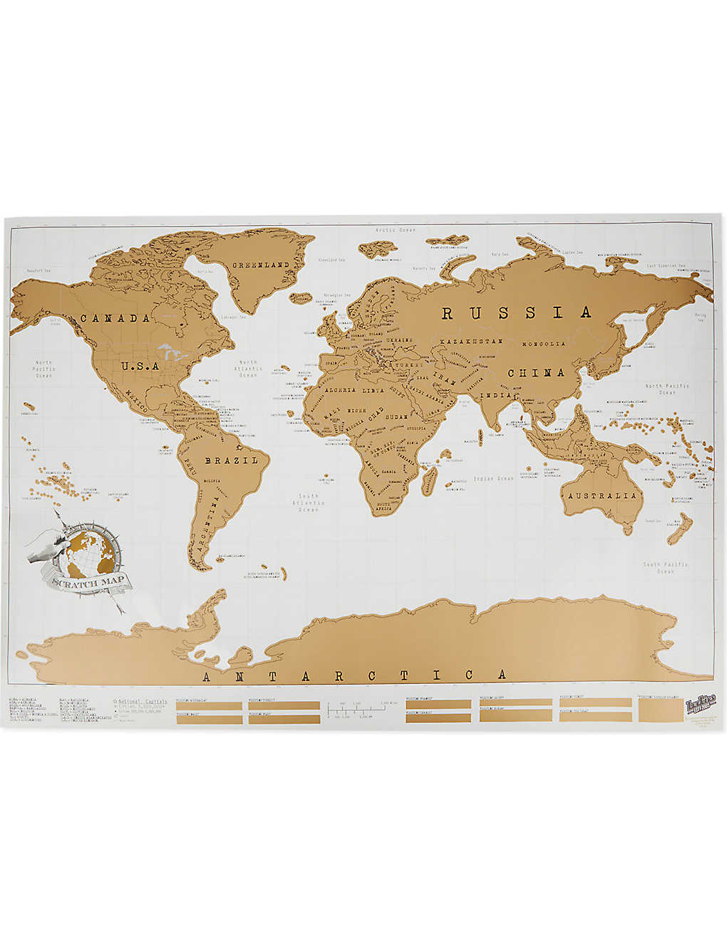 London Map World.Luckies Of London Scratch World Map Selfridges Com