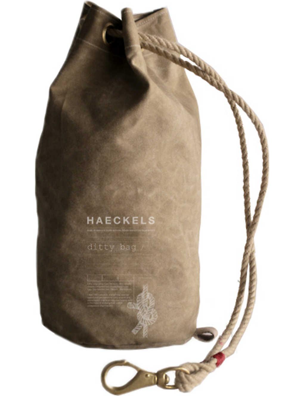 957b3d493d HAECKELS - Sailors waxed canvas ditty bag