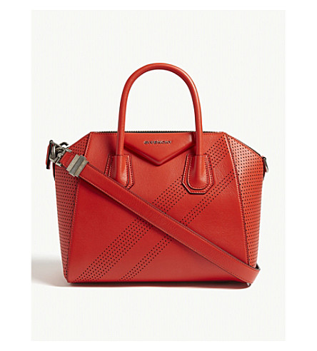 105a8c502d ... GIVENCHY Antigona perforated small leather tote (Pop+red. PreviousNext