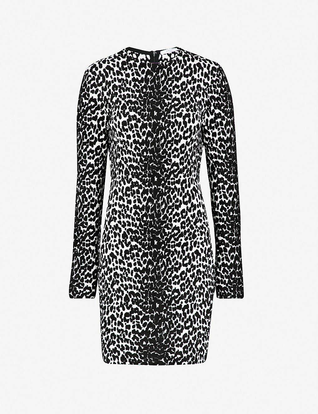GIVENCHY - Leopard-pattern stretch-knit mini dress  40a030bed
