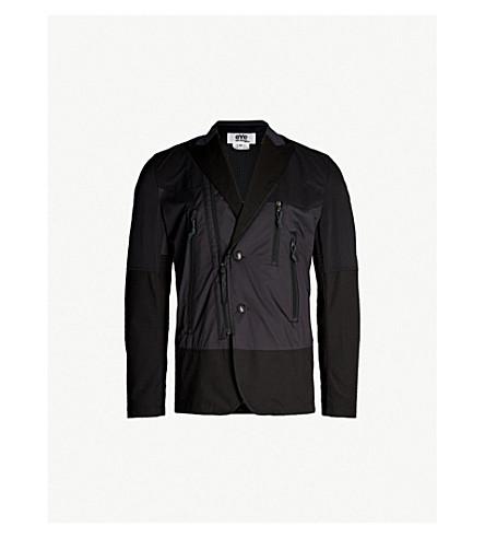 Contrast Panel Wool Blend Jacket by Junya Watanabe