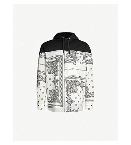 Bandana Print Cotton Jersey Hoody by Sacai