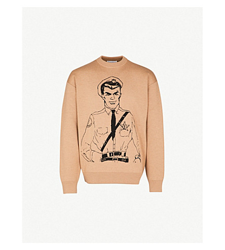 Policeman Intarsia Wool Sweater by Jw Anderson