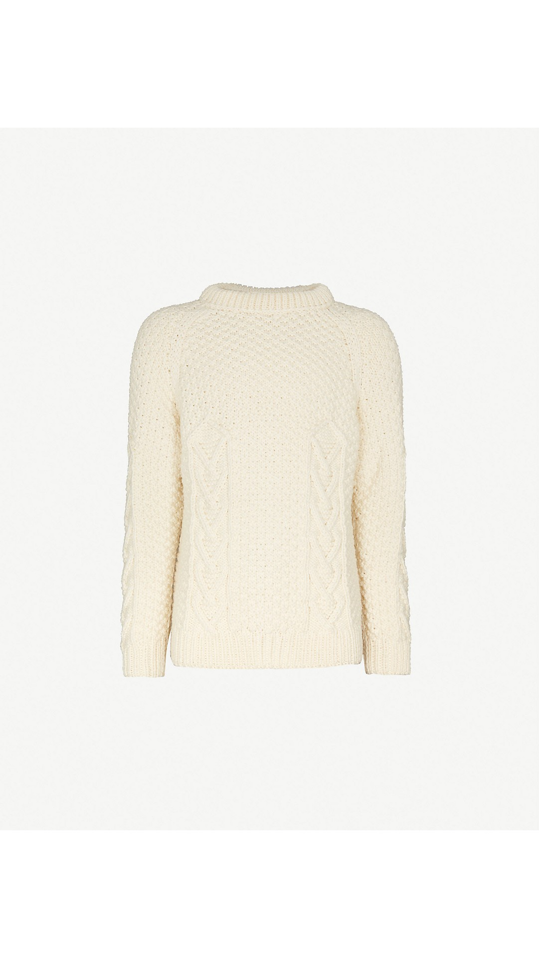 5579e34f88 LOEWE - Logo-embroidered cable-knit wool jumper