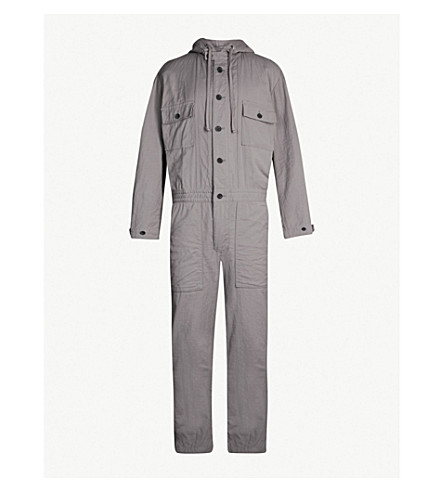 Tapered Cotton Twill Boiler Suit by Issey Miyake